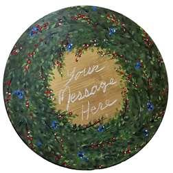 Wood Holiday Wreath
