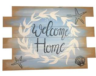 Wood Pallet Sign - Beach Welcome