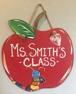 Wooden Apple for Teacher