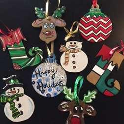 Wooden Cutout Ornaments