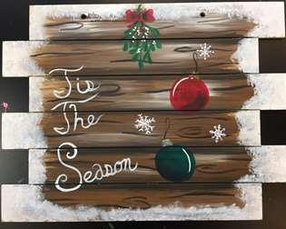 Wooden Pallet - Tis the Season