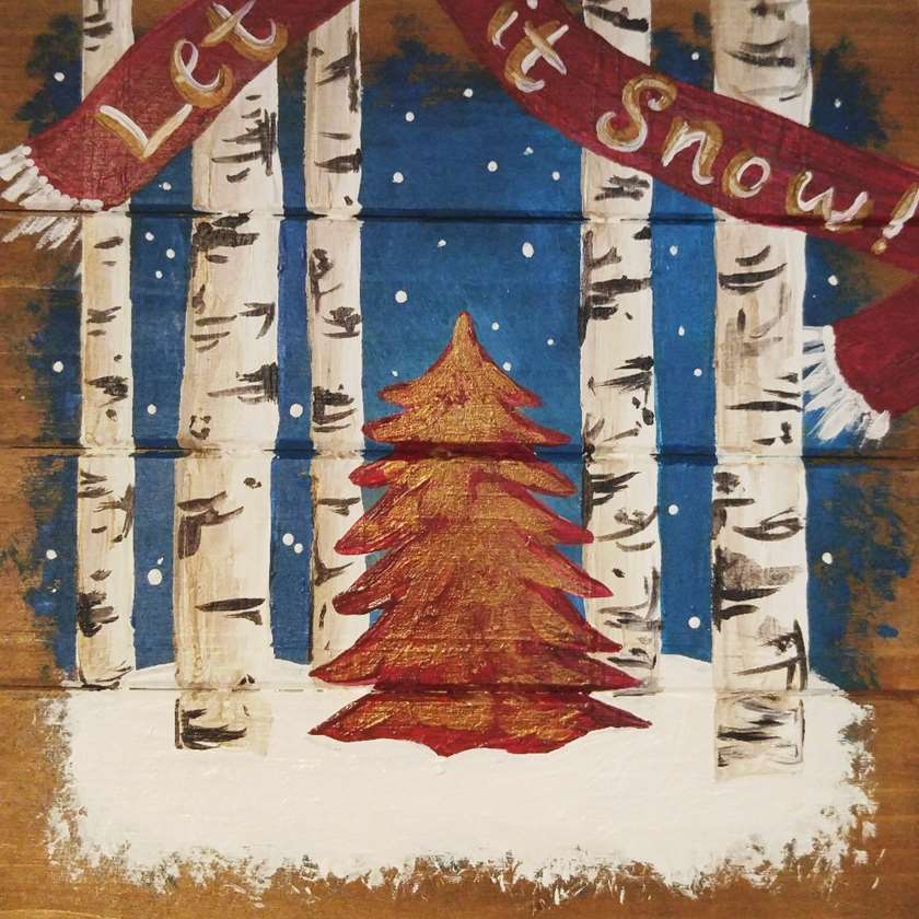 Wooden Sign - Let it Snow