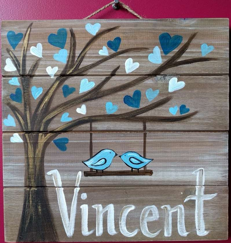 Wooden Sign - Nursery Name