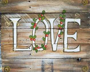 Wooden Sign - Rustic Love