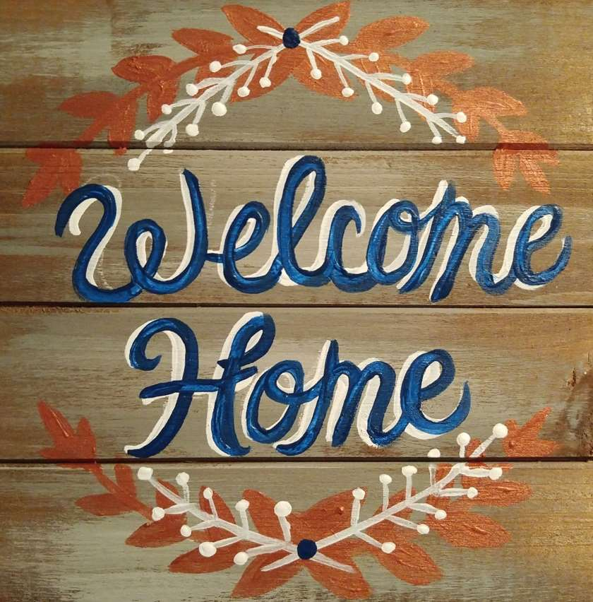 Wooden Sign   Welcome Home