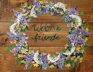 Wood Wildflower Wreath