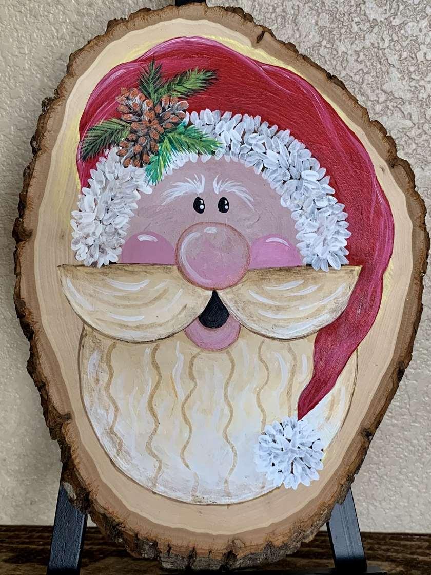 Woodland Santa Live Edge Round