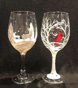 Woodsy Winter Glasses