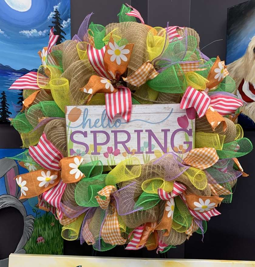 DIY - Hello Spring Wreath Making Class