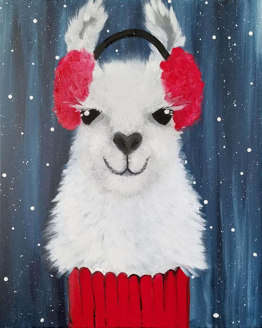 In Studio Event - Yep, it's a Llama in a Turtleneck