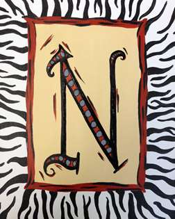 Zebra Monogram