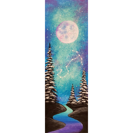 "10""x30"" canvas - Customize to your Zodiac Sign!"